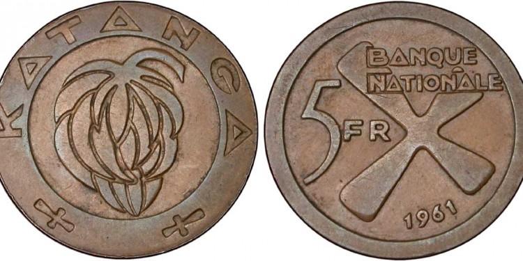 Katanga,_5_Francs,_1961