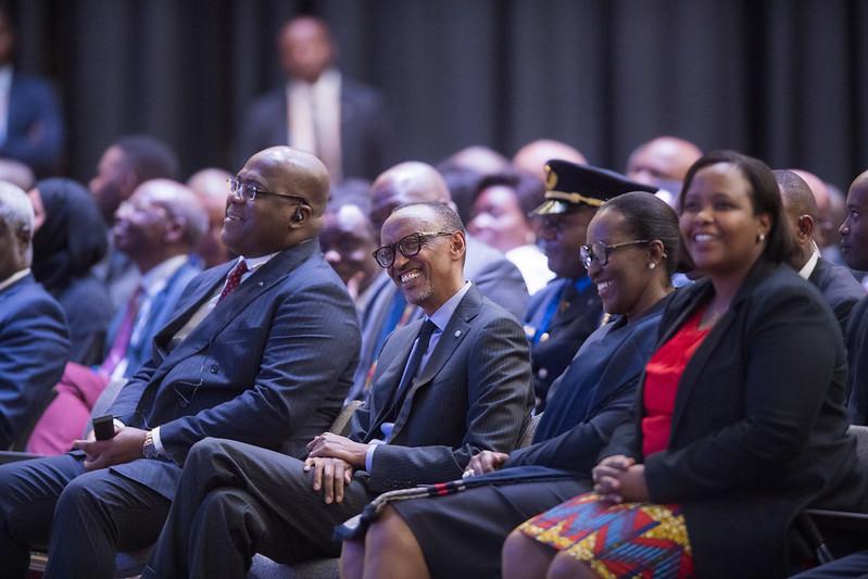Félix Tshisekedi et Paul Kagame, le 8 décembre 2019, au Kusi Ideas Festival, à Kigali. © Flickr/Paul Kagame